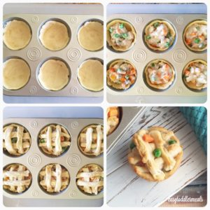 Turkey Pot Pies Procedure