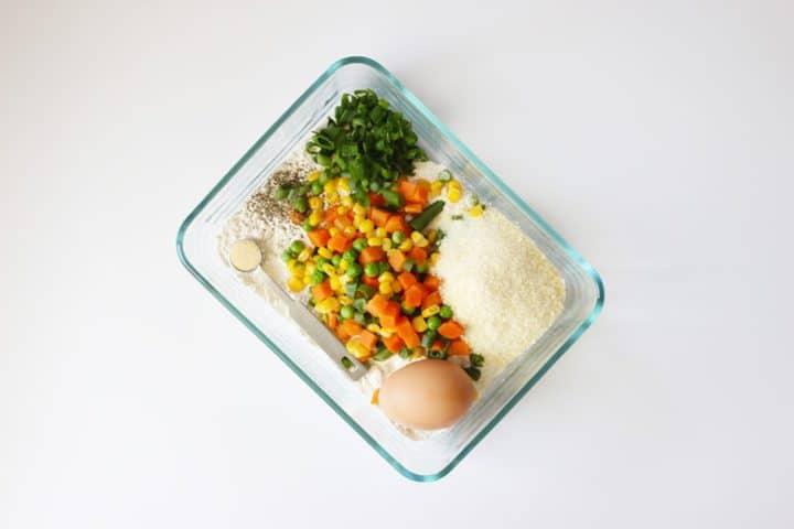 Veggie Fritters Prep