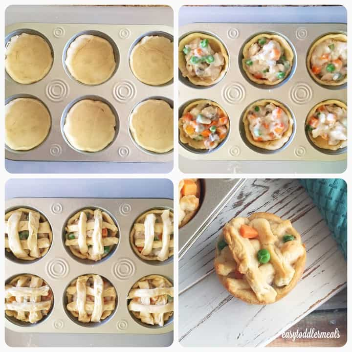 4 ingredient turkey pot pies easy toddler meals turkey pot pies procedure forumfinder Image collections